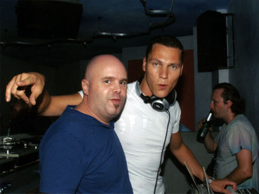 Club DJ London DJ Lucci warming up for DJ Tiesto in Ibiza.
