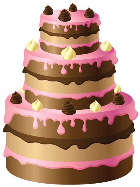 large-chocolate-cake-with-pink-cream-pinmania-mYtT1t-clipart