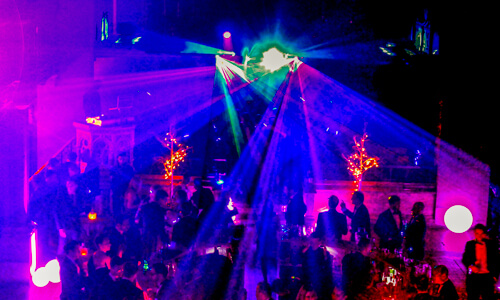 Lighting upgrades provided by Platinum DJs for a Christmas Party at One Mayfair in London.