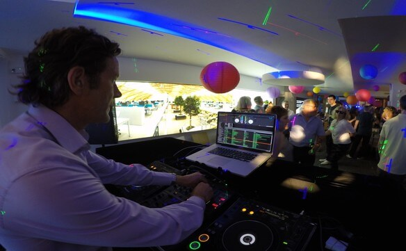 DJ Hire London - DJ Jason Dupuy performs with a Percussionist for a Corporate Event in London.